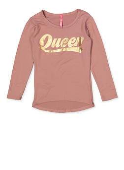 Girls 4-6x Queen Graphic Tee - 3634066590353