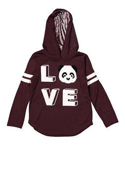 Girls 4-6x Reversible Sequin Panda Graphic Tee - 3634073990027