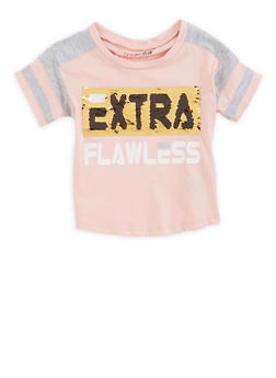 Girls 4-6x Extra Flawless Reversible Sequin Tee - 3634073990037