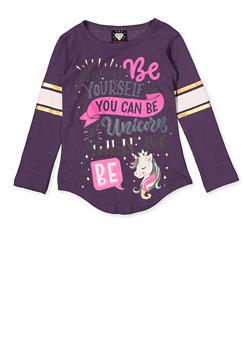 Girls 4-6x Unicorn Graphic Tee - 3634075540025