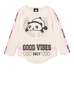Girls 4-6x Good Vibes Only Panda Graphic Tee - 3634075540029