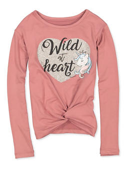 Girls 4-6x Unicorn Wild at Heart Graphic Tee - 3634075540112