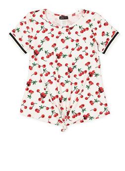 Girls 7-16 Cherry Print Tee - 3635029890041