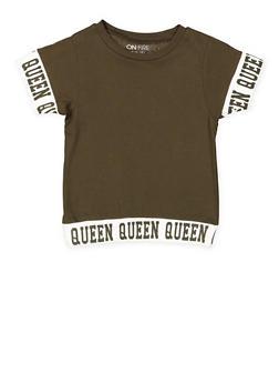 Girls 7-16 Queen Graphic Trim Tee - 3635033870130