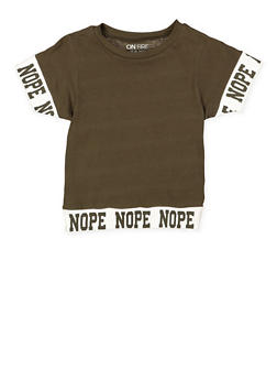 Girls 7-16 Nope Graphic Tee - 3635033870131