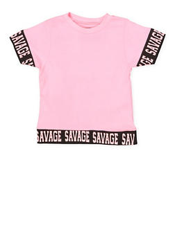 Girls 7-16 Savage Graphic Trim Tee - 3635033870132