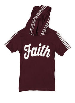 Girls 7-16 Faith Graphic Hooded Tee - 3635033870146