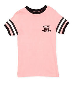 Girls 7-16 Nope Not Today Graphic Tee - 3635033870150