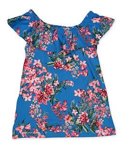 Girls 7-16 Floral Off the Shoulder Top - 3635038340064
