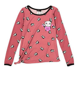 Girls 7-16 Panda Graphic Tee - 3635061950106