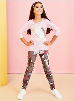 Girls 7-16 Magical Unicorn Fringe Tee - 3635061950135