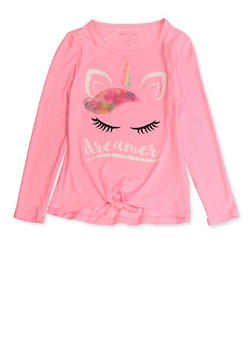 Girls 7-16 Dreamer Unicorn Long Sleeve Tee - 3635061950139