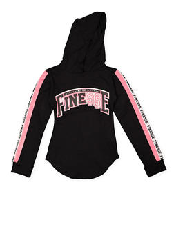 Girls 7-16 Finesse Graphic Hooded Tee - 3635063400012