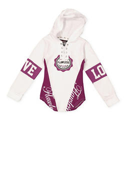 Girls 7-16 Flawless Graphic Hooded Top - 3635063400017