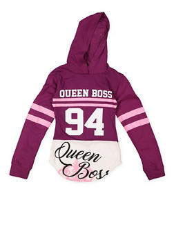 Girls 7-16 Graphic Hooded Top - 3635063400018