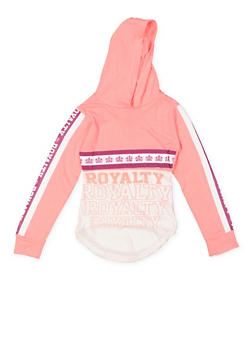 Girls 7-16 Royalty Graphic Hooded Tee - 3635063400019