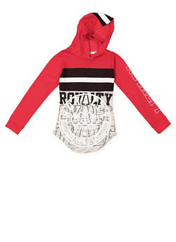 Girls 7-16 Graphic Hooded Tee - 3635063400021