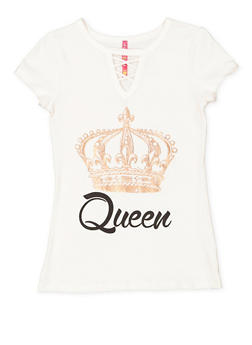Girls 7-16 Queen Graphic Tunic Top - 3635066590020