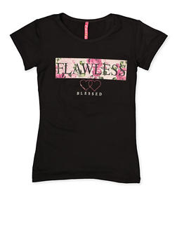 Girls 7-16 Flawless Blessed Graphic Tee - 3635066590291