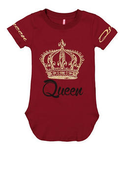 Girls 7-16 Queen Graphic Tunic Top - 3635066590302