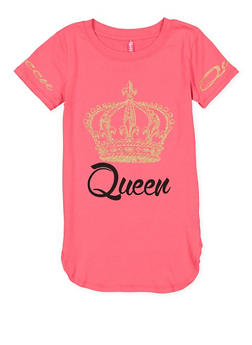 Girls 7-16 Queen Graphic Tunic Top - 3635066590302
