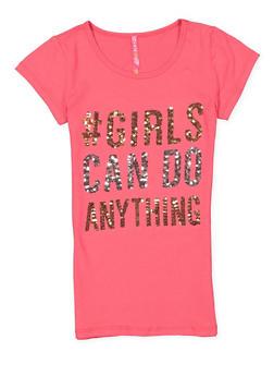 Girls 7-16 Sequin Graphic Tee - 3635066590307