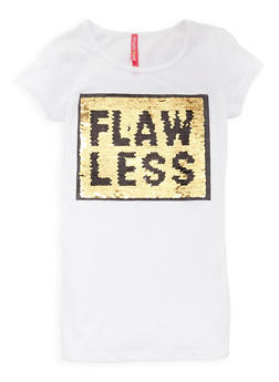 Girls 7-16 Flawless Reversible Sequin T Shirt - 3635066590309