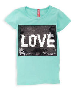 Girls 7-16 Reversible Sequins Graphic T Shirt - 3635066590313