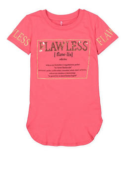Girls 7-16 Sequin Flawless Graphic Tunic Top - 3635066590320