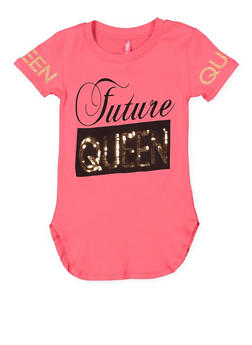 Girls 7-16 Sequin Graphic Tunic Top - 3635066590322