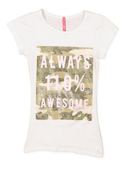 Girls 7-16 Awesome Graphic Tee - 3635066590324