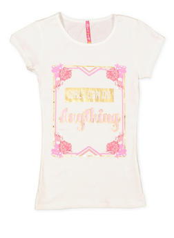 Girls 7-16 Shimmer Graphic Tee - 3635066590325