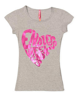 Girls 7-16 Endless Weekends Graphic Tee - 3635066590326