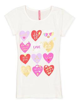 Girls 7-16 Graphic Tunic Tee - 3635066590328