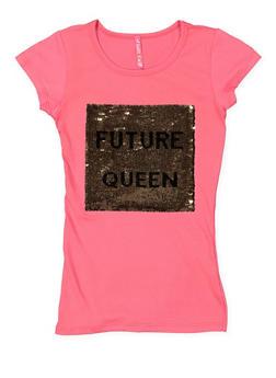 Girls 7-16 Reversible Sequin Graphic Tee - 3635066590338