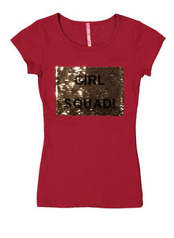 Girls 7-16 Reversible Sequin Graphic Tee - 3635066590342