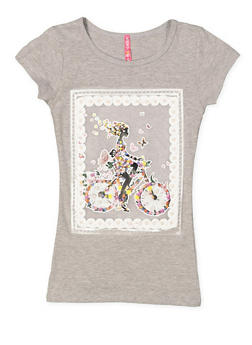 Girls 7-16 Mesh Graphic Tee - 3635066590348