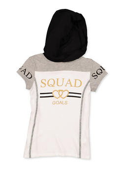 Girls 7-16 Squad Goals Hooded Tee - 3635066590364