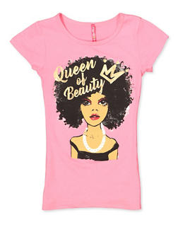 8bdfea313 Girls 7-16 Queen of Beauty Tee - 3635066590367