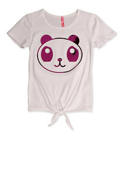 Girls 7-16 Panda 3D Graphic Tee - 3635066590387