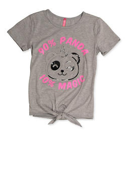 Girls 7-16 Pandacorn 3D Foil Graphic Tee - 3635066590388