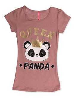 Girls 7-16 Queen Panda Tee - 3635066590391
