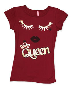 Girls 7-16 Queen Eyelash Tee - 3635066590397
