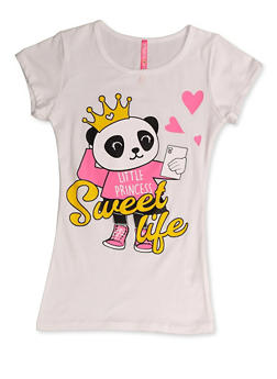 Girls 7-16 Little Princess Sweet Life Panda Tee - 3635066590399