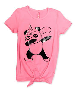 Girls 7-16 Pandacorn Dab It Out 3D Graphic Tee - 3635066590403