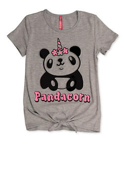 Girls 7-16 Pandacorn 3D Graphic Tee - 3635066590404