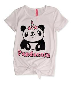 Girls 7-16 Pandacorn 3D Graphic Tee - 3635066590404