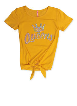 Girls 7-16 Real Queens 3D Graphic Tee - 3635066590405