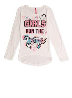 Girls 7-16 Girls Run the World Tee - 3635066590448