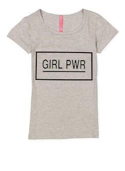 Girls 7-16 Girl Power 3D Foil Screen Tee - 3635066590705